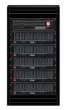 Cabina negra del ordenador ilustración del vector