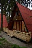 Cabina nel legno Immagine Stock Libera da Diritti