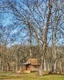 Cabina nel legno di inverno Immagine Stock