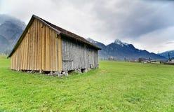 Cabina nella campagna austriaca Fotografie Stock Libere da Diritti