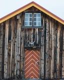 Cabina in Norvegia Fotografia Stock