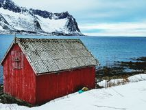 Cabina in Norvegia immagine stock