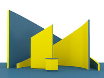 Cabina o stalla commerciale gialla di mostra Immagini Stock Libere da Diritti