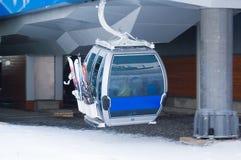 Cabina para el deporte del esquí y del snowboard fotografía de archivo libre de regalías