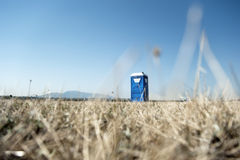Cabina portátil del toilette imagen de archivo