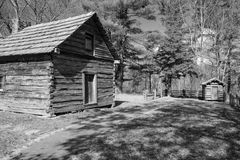 Cabina Ridge Parkway blu, la Virginia, U.S.A. di Puckett's Fotografia Stock Libera da Diritti