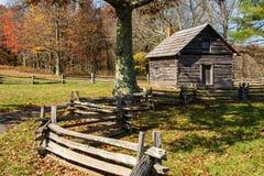 Cabina Ridge Parkway blu, la Virginia, U.S.A. di Puckett's Fotografia Stock