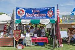 Cabina scozzese della famiglia del clan Fotografia Stock