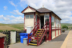 Cabina segnaletica ferroviaria Cumbria Inghilterra di Garsdale Immagine Stock Libera da Diritti