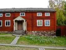 Cabina svedese rossa Immagini Stock Libere da Diritti