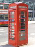Cabina telefonica di Londra Fotografie Stock Libere da Diritti