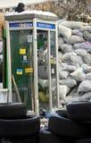 Cabina telefonica a Kiev fotografie stock libere da diritti