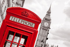 Cabina telefonica Londra, Regno Unito Fotografia Stock Libera da Diritti