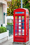Cabina telefonica rossa. Fotografia Stock