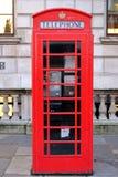 Cabina telefonica rossa Fotografie Stock