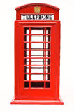 Cabina telefonica rossa isolata su fondo bianco Immagine Stock Libera da Diritti