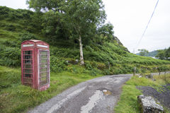 Cabina telefonica rurale Fotografia Stock Libera da Diritti
