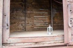 Cabina vecchia del treno Immagine Stock