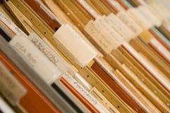 Cabina vieja de la carpeta Foto de archivo libre de regalías