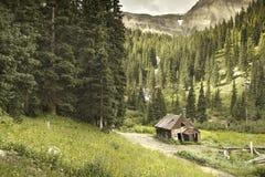 Cabina vieja de la explotación minera de Ouray Colorado fotos de archivo libres de regalías