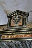 Cabina vieja de la prueba de la compañía de Byrrh imagen de archivo