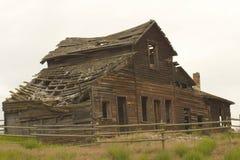 Cabina vieja en ruinas Imagen de archivo