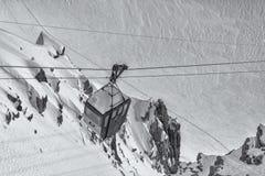 Cabina vieja funicular Imagenes de archivo