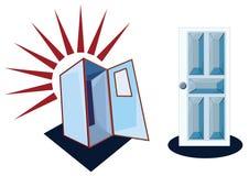 Cabina y la puerta del sitio Imagen de archivo libre de regalías