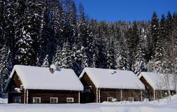 Cabinas 2 de la nieve Imagen de archivo libre de regalías