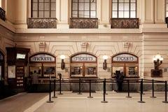 Cabinas de boleto terminales de Hoboken fotografía de archivo