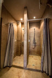 Cabinas de la ducha fotos de archivo