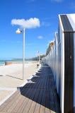 Cabinas de la playa Fotos de archivo libres de regalías