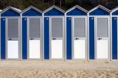 Cabinas de la playa Fotos de archivo