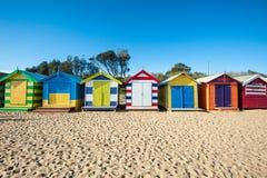 Cabinas de la playa de Melbourne Fotografía de archivo libre de regalías