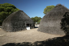 Cabinas de la tribu Imagen de archivo libre de regalías