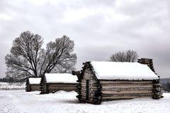 Cabinas de la vivienda del campo en el parque nacional de la fragua del valle fotos de archivo libres de regalías