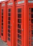 Cabinas de teléfono Imagenes de archivo
