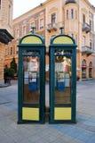 Cabinas de teléfono Foto de archivo libre de regalías