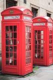 Cabinas de teléfono Fotos de archivo libres de regalías