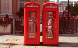 Cabinas de teléfono de Londres Foto de archivo libre de regalías