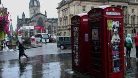 Cabinas de teléfono, Escocia almacen de video