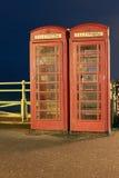 Cabinas de teléfono inglesas foto de archivo libre de regalías