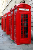 Cabinas de teléfono rojas imagen de archivo libre de regalías