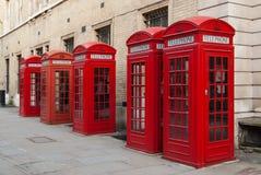 Cabinas de teléfonos Imagenes de archivo