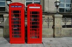 Cabinas de teléfonos Imagen de archivo libre de regalías