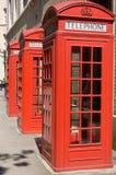 Cabinas de teléfonos británicas Fotografía de archivo libre de regalías