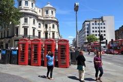 Cabinas de teléfonos de Londres Imágenes de archivo libres de regalías
