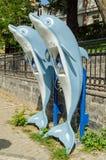 Cabinas de teléfonos del delfín, Estambul Foto de archivo libre de regalías