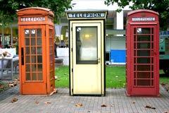 Cabinas de teléfono Imagen de archivo libre de regalías