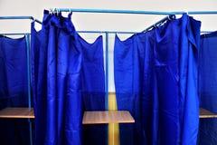 Cabinas de votación vacías Fotografía de archivo libre de regalías